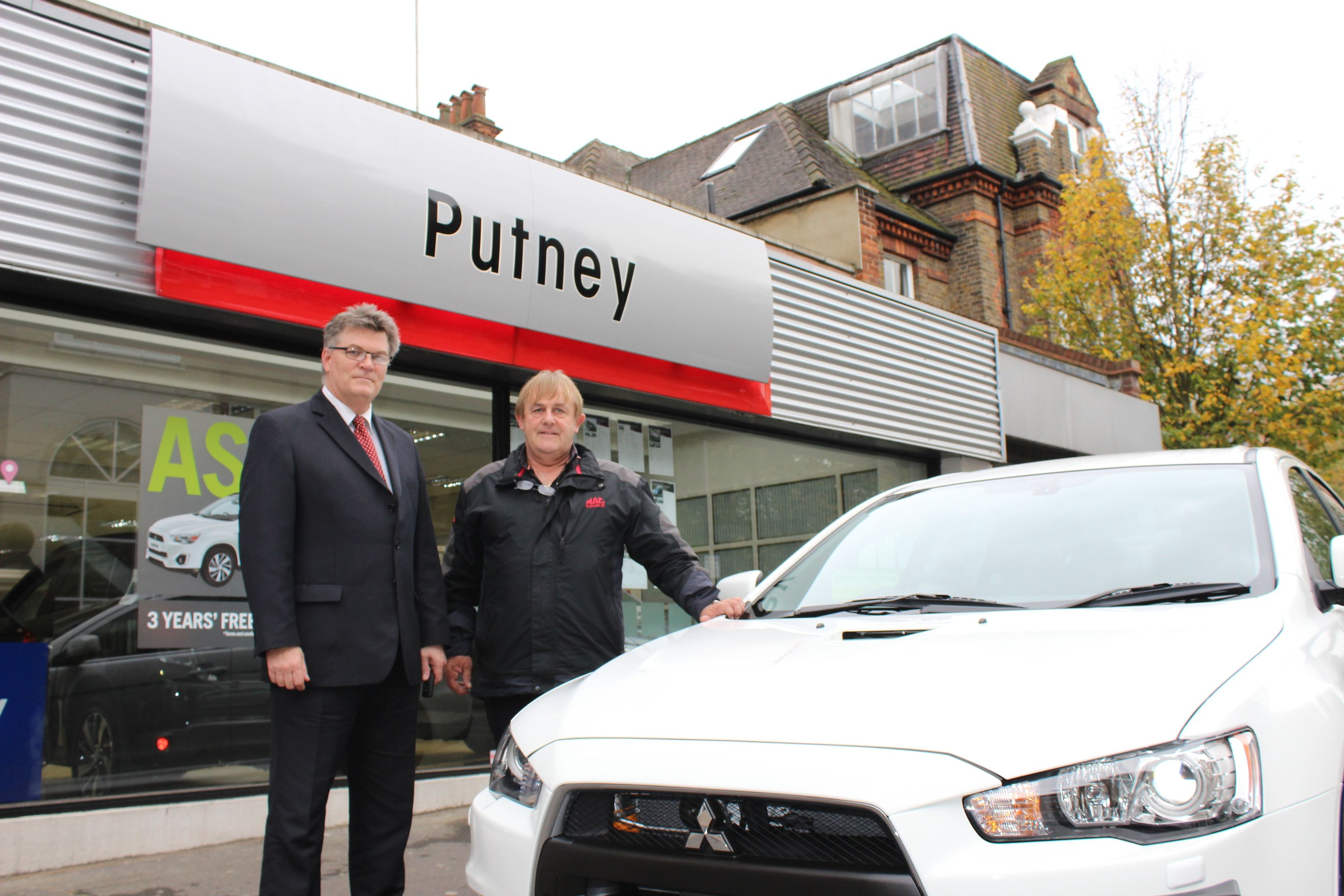 BIRTHDAY TREAT FOR MOTORING FAN AS HE PICKS UP ONE OF ONLY 40 CARS OF ITS KIND IN THE UK FROM PUTNEY DEALER
