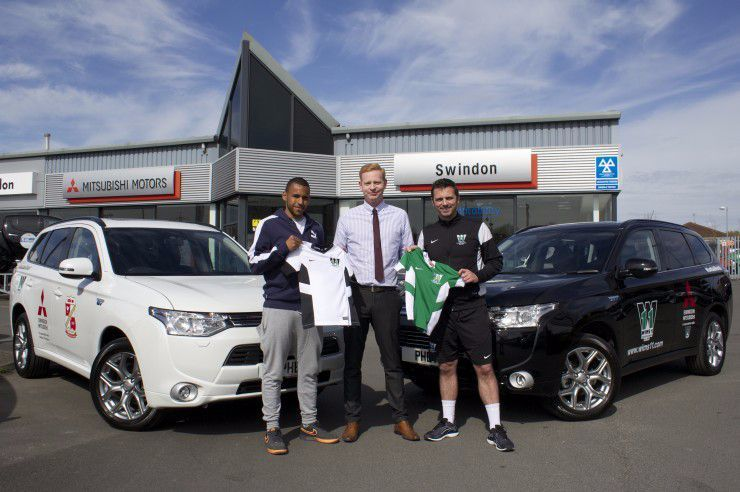 SWINDON MITSUBISHI SHOWS ITS SUPPORT FOR FOOTBALL ACADEMY CCR - Mitsubishi support