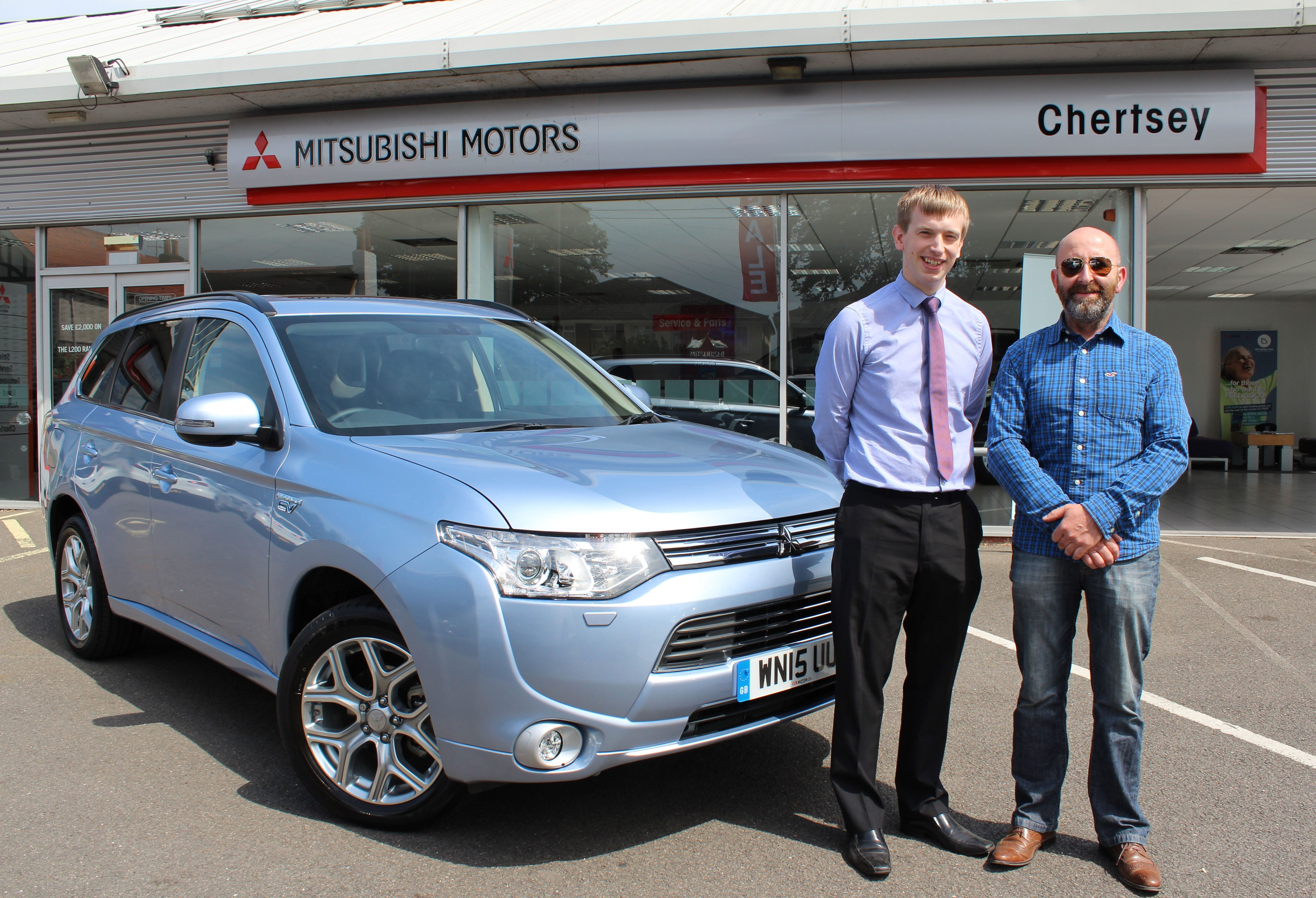 LUCKY WINNER SCOOPS AN OUTLANDER PHEV WITH CHERTSEY MITSUBISHI