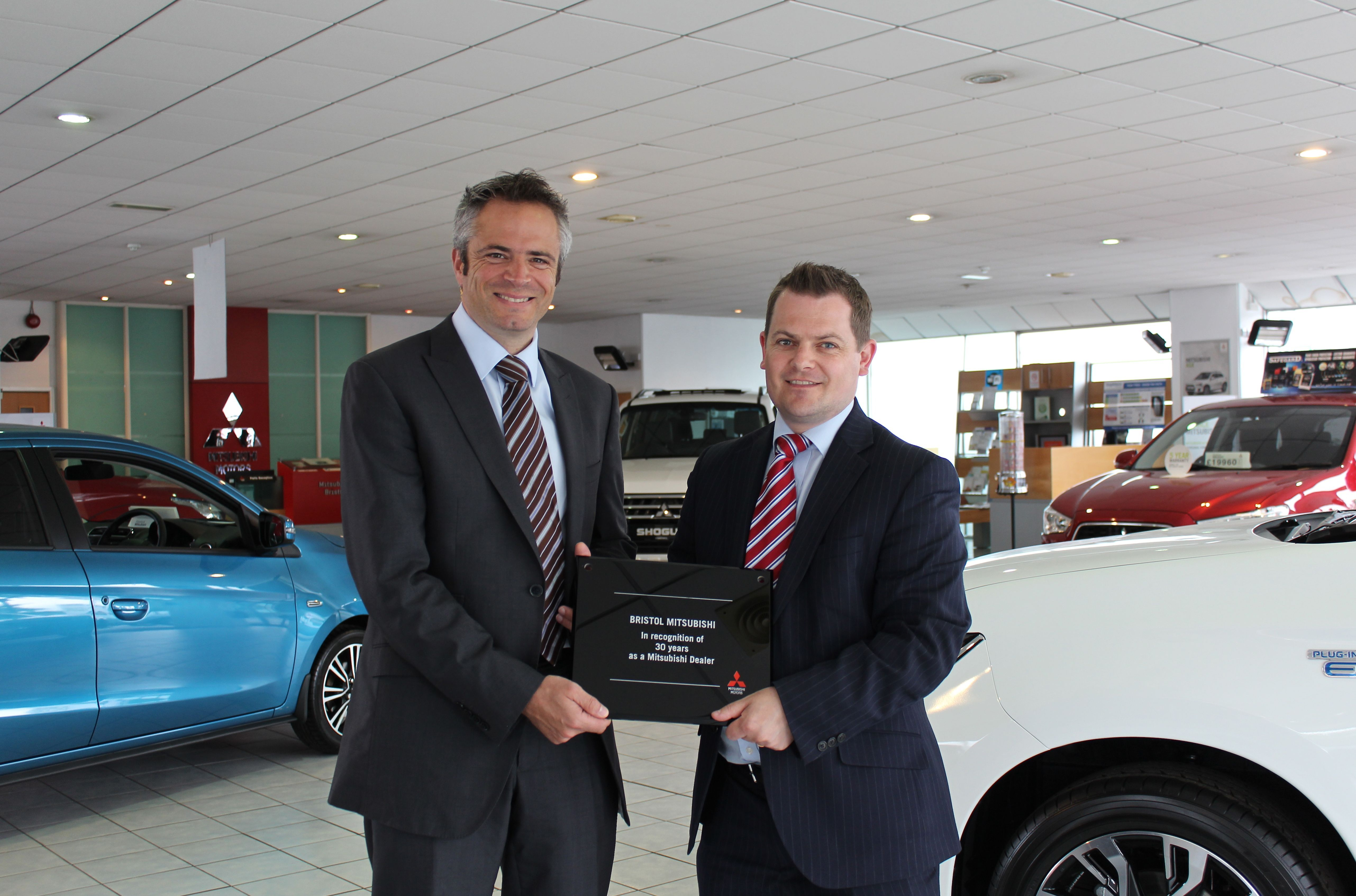 CCR Bristol Mitsubishi honoured for reaching 30-year landmark