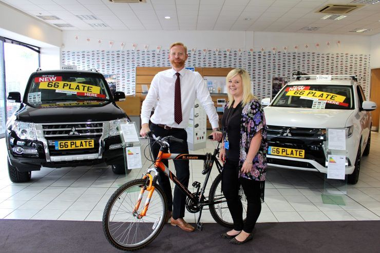 CCR Mitsubishi backs Swindon's Ride for Radiotherapy