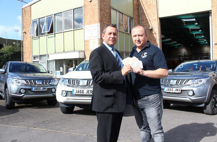 Gloucester engineering company boss wins £1,066 worth of vouchers with CCR Mitsubishi