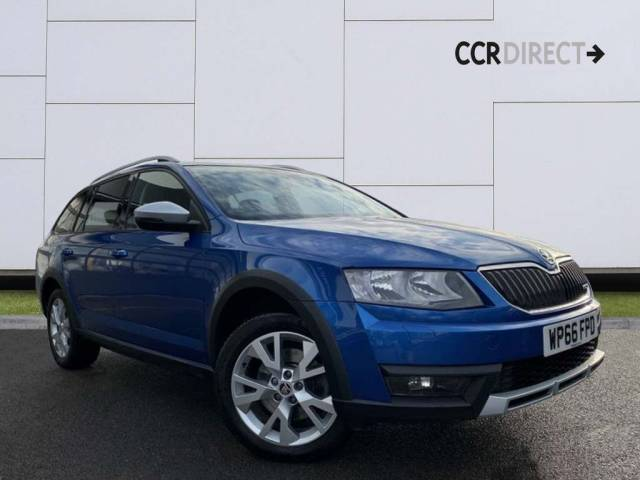 Skoda Octavia 2.0 TDI Scout DSG 4x4 5dr Estate Diesel Blue at CCR Motor Co Weston-Super-Mare